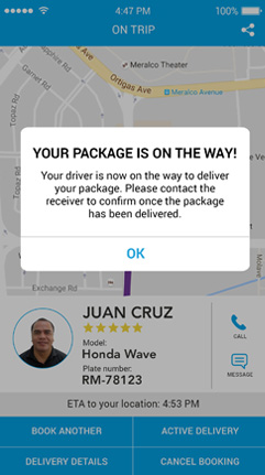 Track your package's status